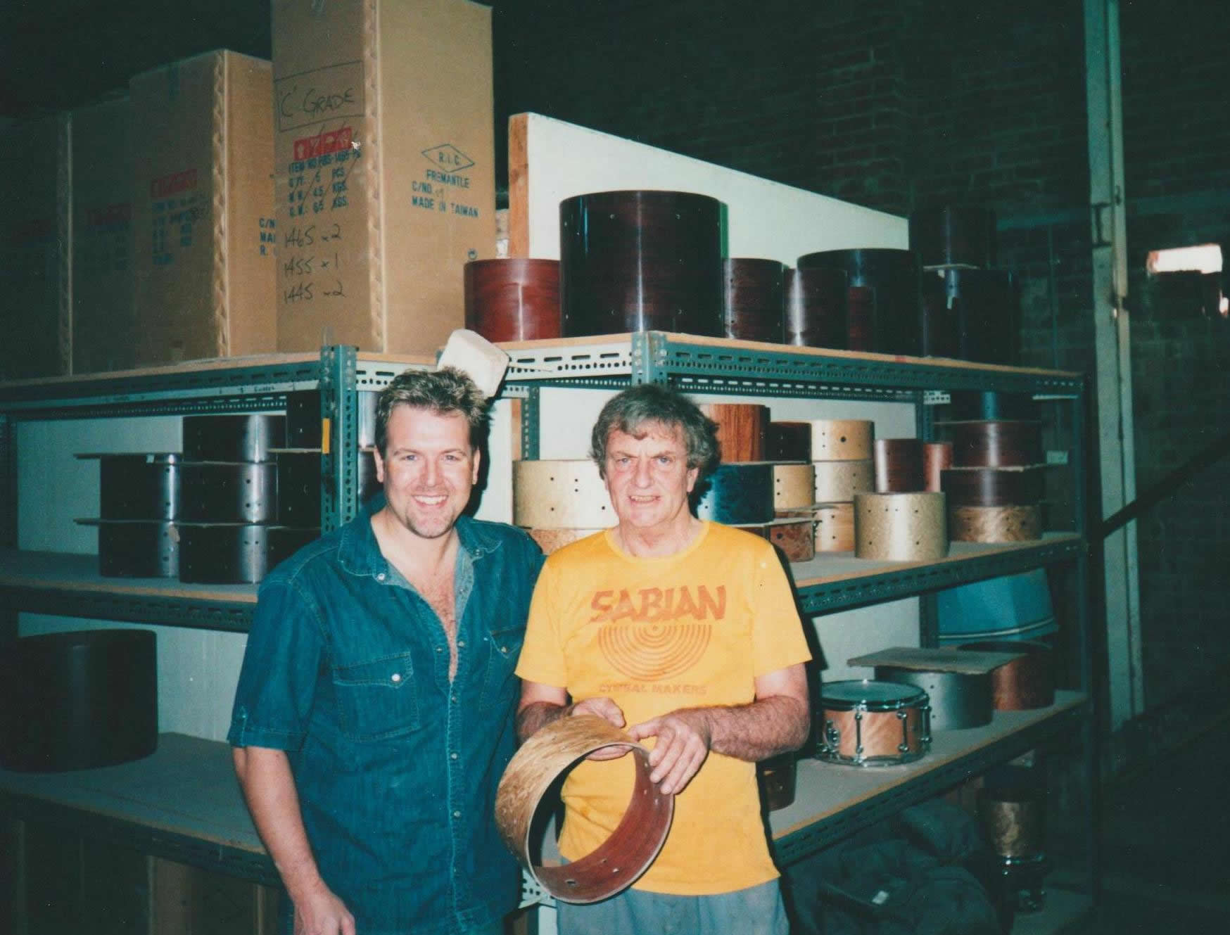 Brady Drum Factory WA, with Chris Bardy – 2003